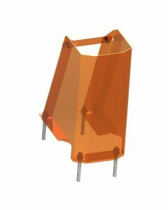 Rammschutz, U-Form, Höhe 400 mm, Breite 180 mm