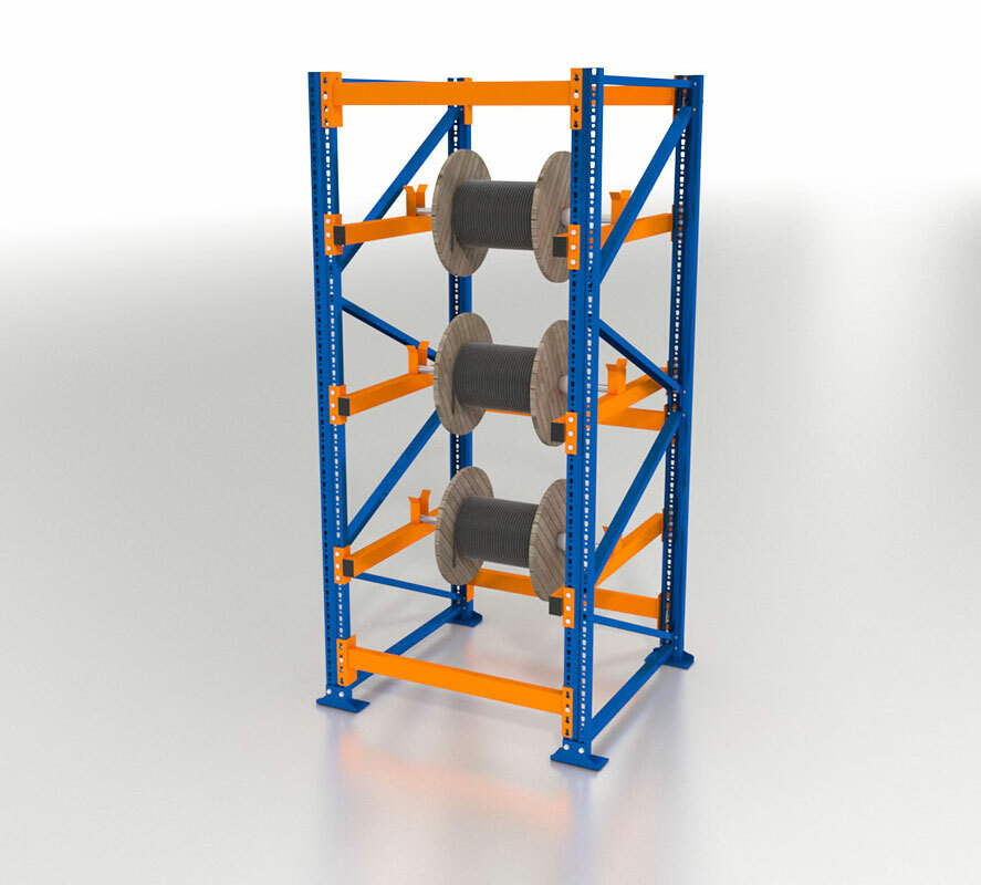 Kabeltrommelregal Block-Ausführung